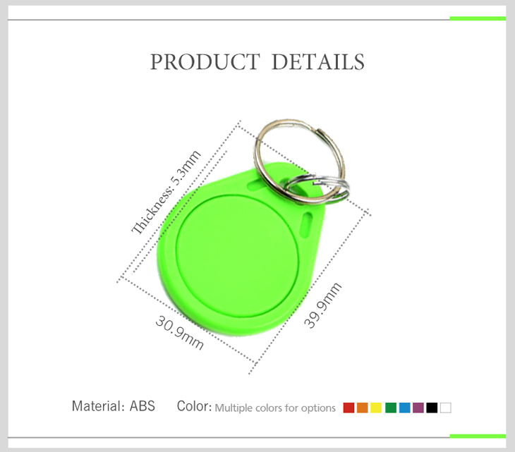 RFID key Fob Shape and Size