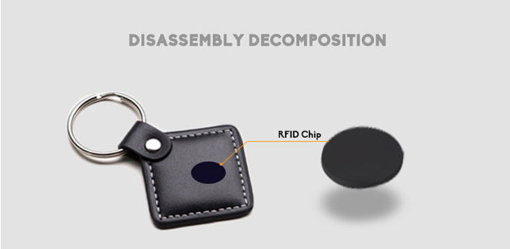 RFID Leather Keyfob With TK4100 Chip