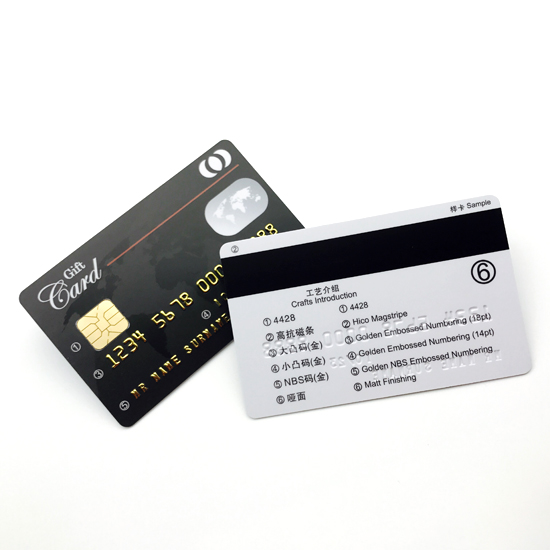 CPU Contact IC Card With Magnetic Stripe