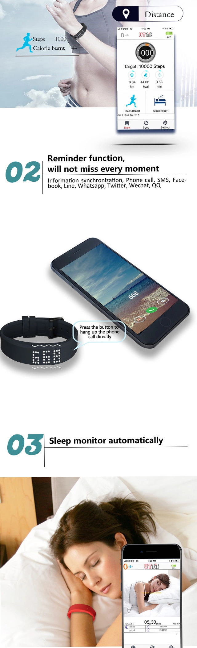 Silicone RFID Sport Wristband Function