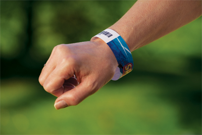 RFID Thermal Printable Wristband For Amusement Park