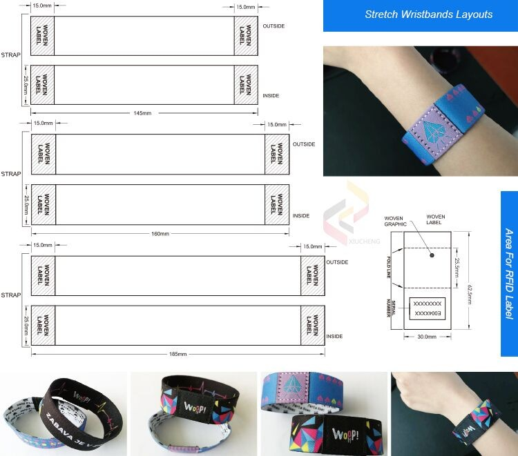 rfid event woven wristband