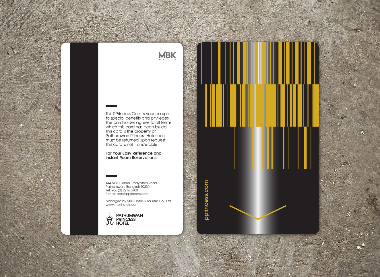 Custom hotel key card